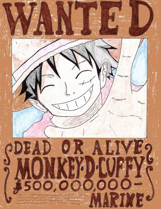 Luffy wanted poster - Anime Art