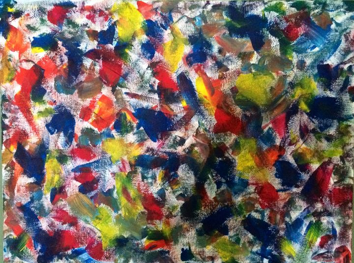 Colourful Kisses - Angela Louise Abstract