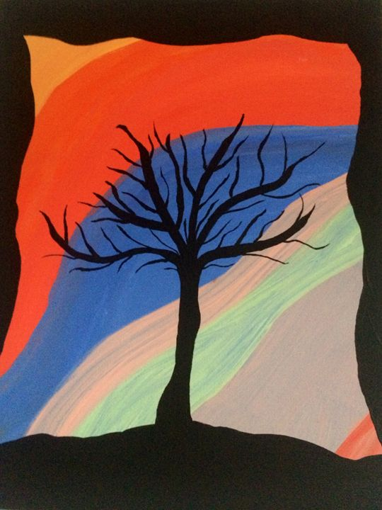 Shadow Tree - Angela Louise Abstract
