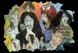 Frank Zappa mixed media