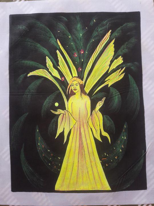 Magical angel - MuchiHandPainting