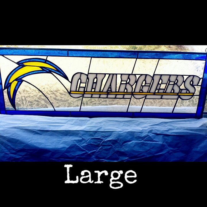 san diego chargers logo - Arte stained glass