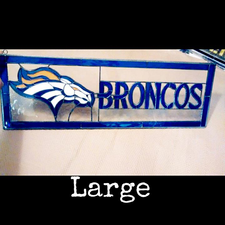 Broncos football panel - Arte stained glass