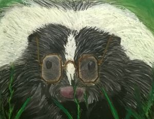 Skunk with Glasses
