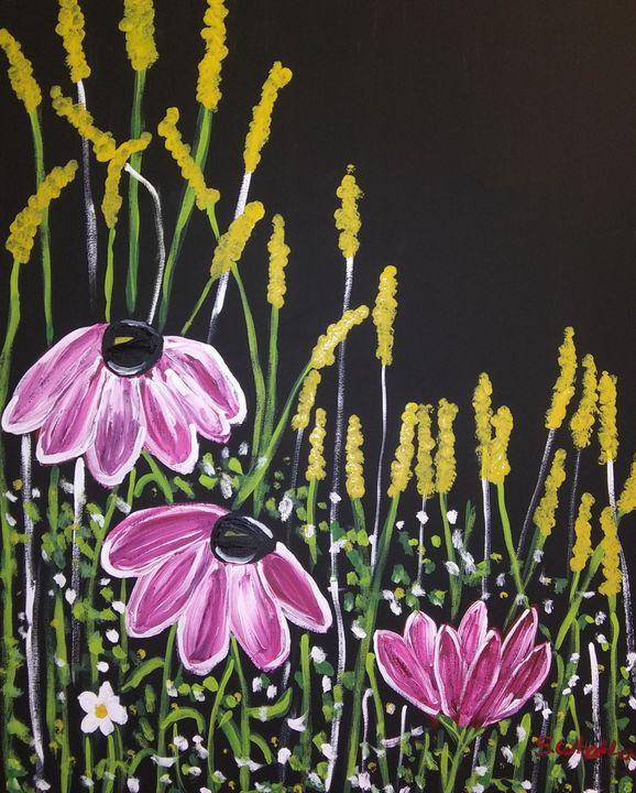 Night Blooms - Samantha's Art