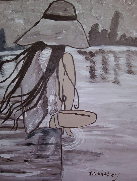 Sitting in The Rain - Samantha's Art