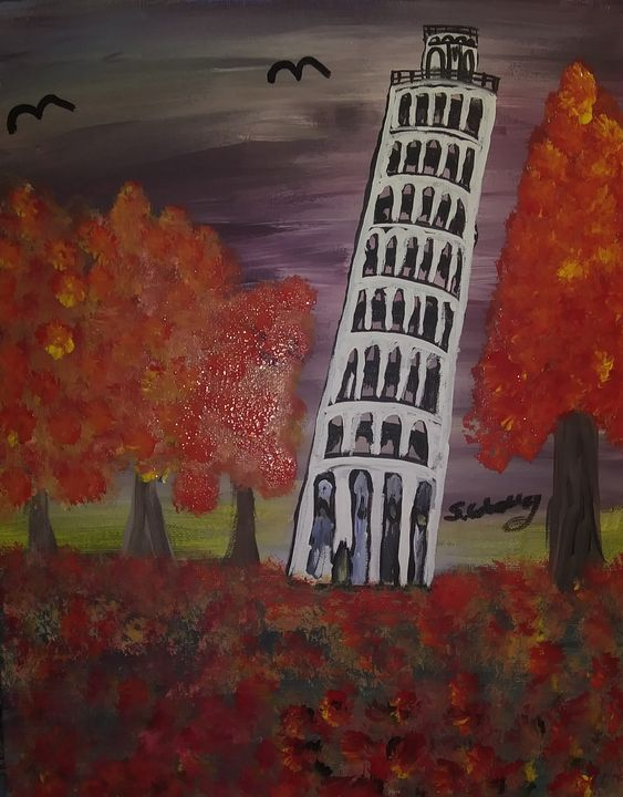 The Leaning Tower Of Pisa - Samantha's Art
