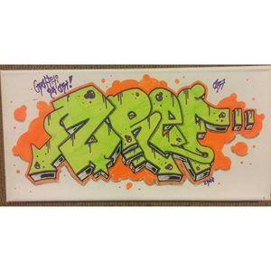 """7""""x14"""" Neon ZREF Canvas"""