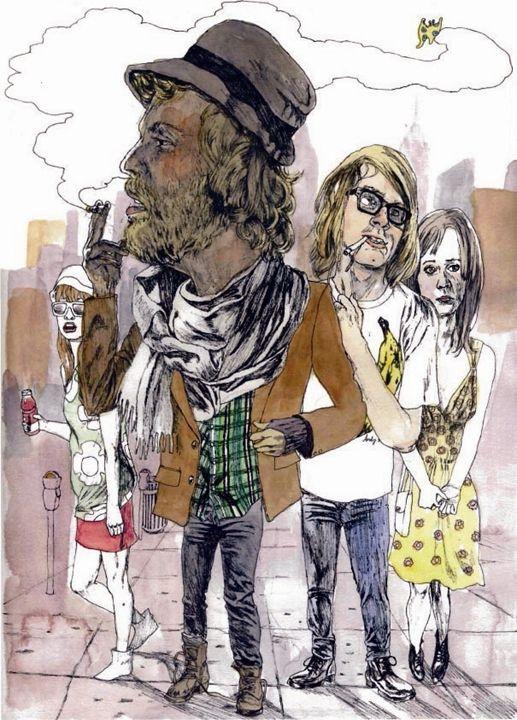 Hipster Eustace Tilley - Ariel Cotton