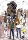 Eustace Tilley as a hipster.