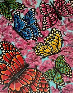 Butterflies Pop Art - Lochana C