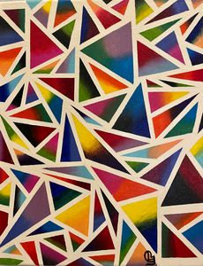 Abstract Triangle Art - Lochana C