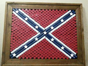 Shotgun Shell Confederate Flag - Heritage Not Hate !