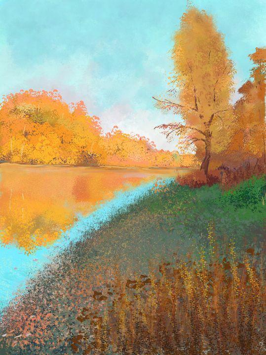 Autumn landscape with river - SychEva