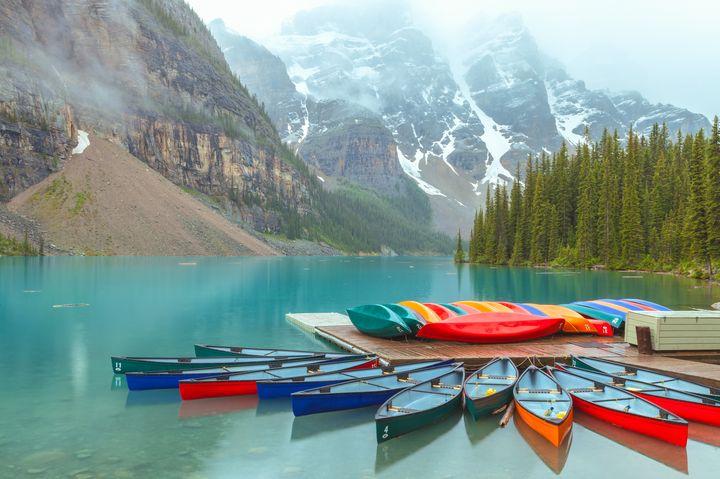Morraine Lake Canoes - Jonathan Nguyen