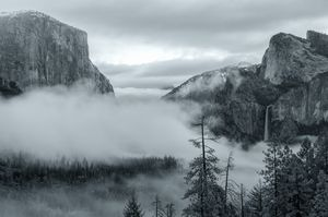 tunnel view with fog