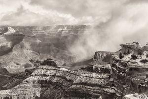 grand canyon sepia