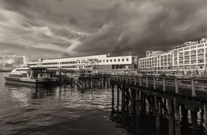Port of Seattle sepia