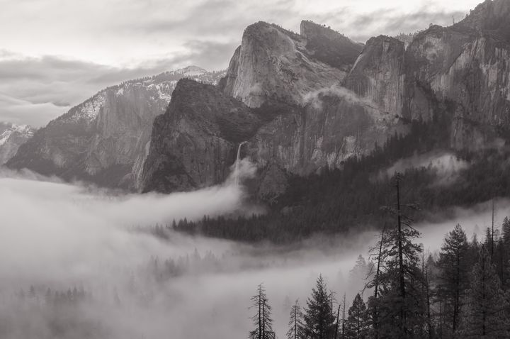 falls and fog bw - Jonathan Nguyen