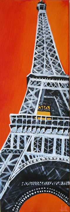 Eiffel tower - Lukas Sebek paintings