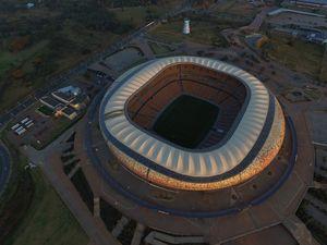 Aerial photo of Soccer City stadium