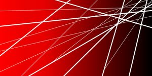 Modern red abstract artwork