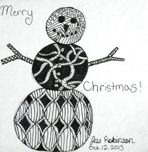 Christmas Snowman Zentangle - SteamAngel Gallery