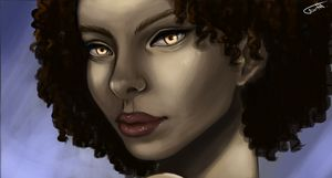 fire-eyed afro godess