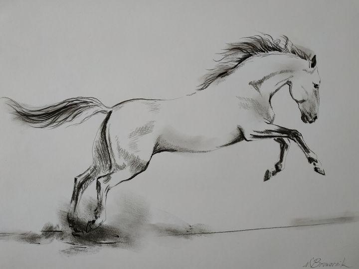 The White Horse - Natalia Browarnik. EFN  Modern Art Gallery