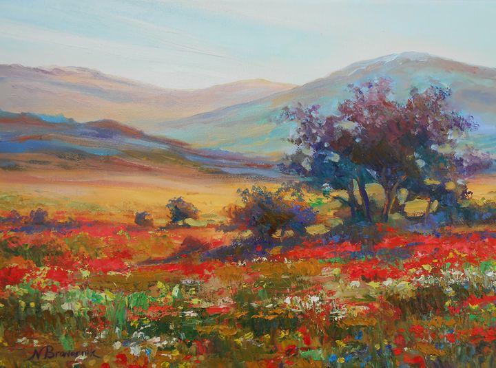 Sale. New. The Galil Mountains - Natalia Browarnik. EFN  Modern Art Gallery