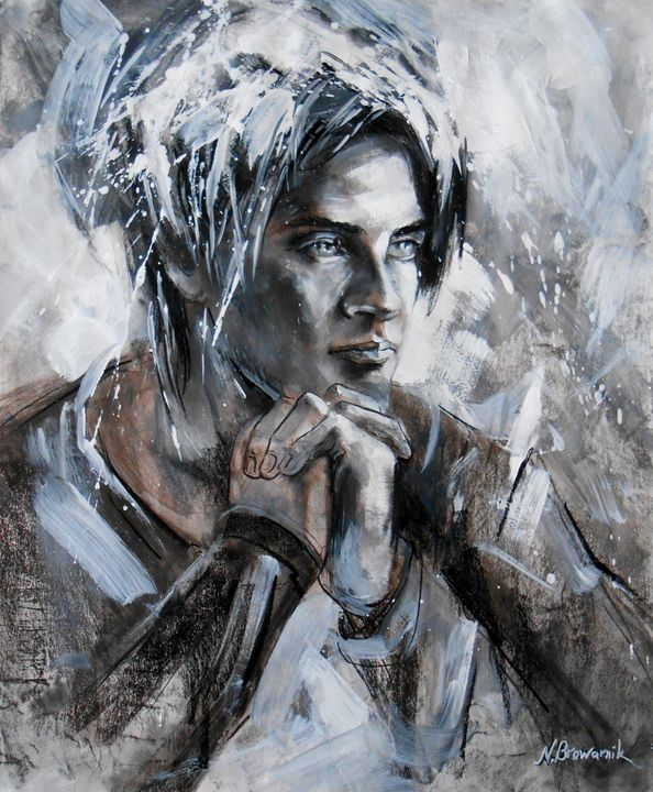 Modern art. Drawing.The Young Man - Natalia Browarnik. EFN  Modern Art Gallery