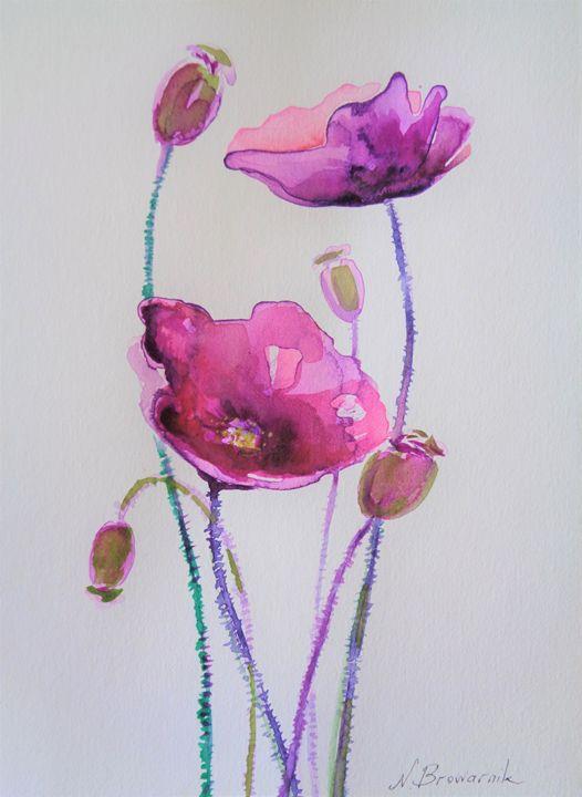 The Purple Anemones - Natalia Browarnik. EFN  Modern Art Gallery