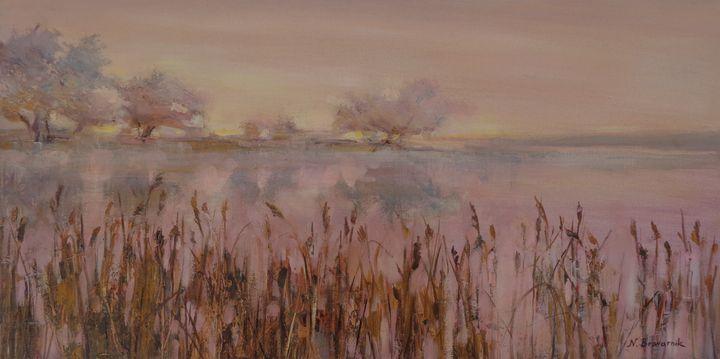 Pink Evening - Natalia Browarnik. EFN  Modern Art Gallery