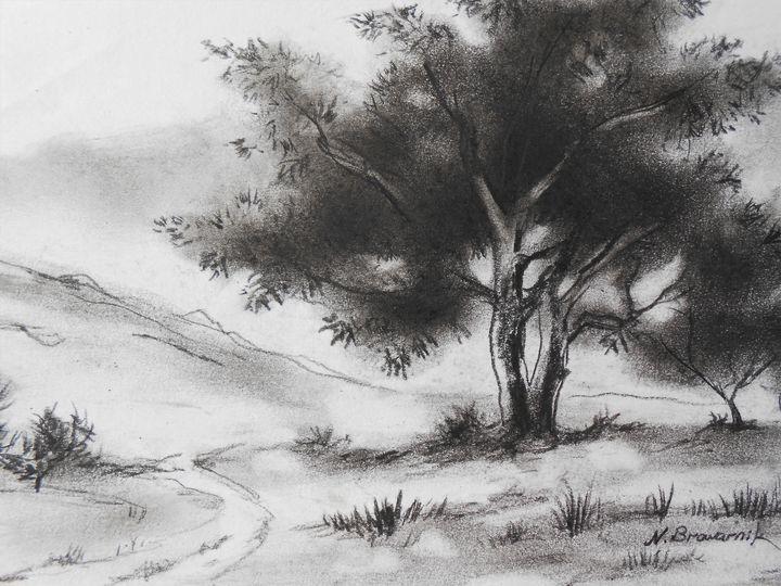 Pine Tree - Natalia Browarnik. EFN  Modern Art Gallery