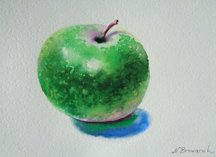 Green Apple - Natalia Browarnik. EFN  Modern Art Gallery