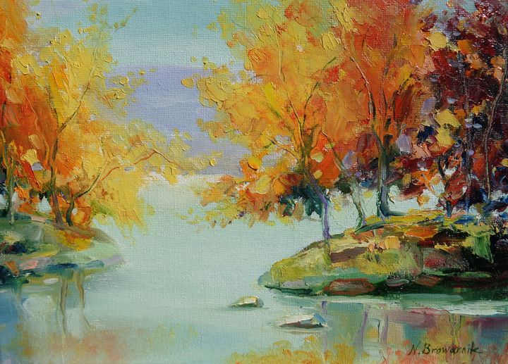 Beauty of Autumn - Natalia Browarnik. EFN  Modern Art Gallery