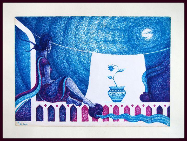 The blue pot - Ritopriyo Saha