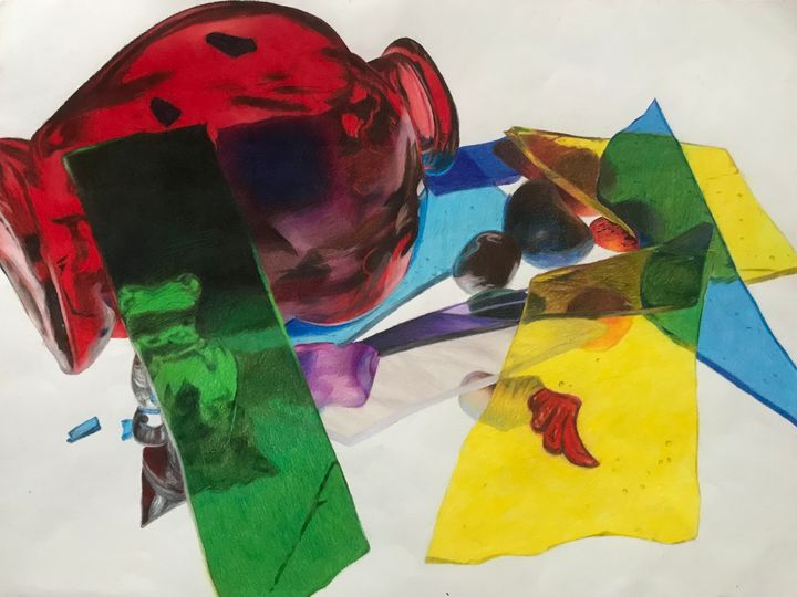 Colored Glass Still-Life - Not So Colorful Art
