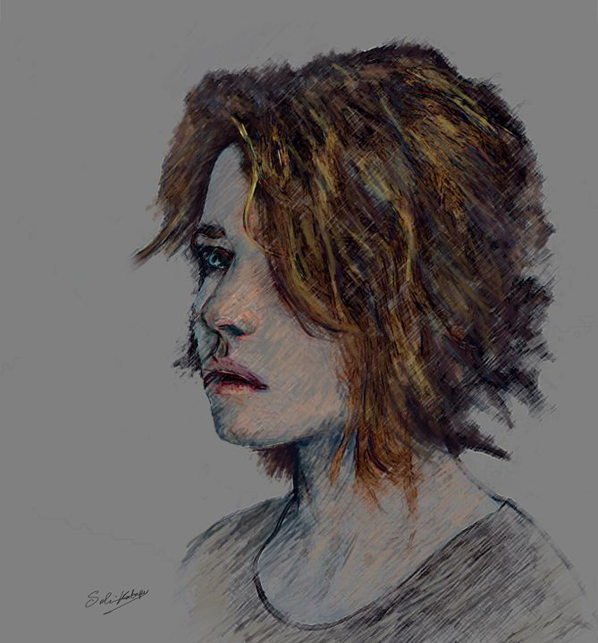 Blue eyes girl - Selim Kabapy