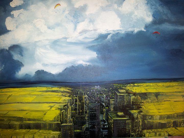 DreamScape Wh(e)at City - Wayne Ross Hand Made Fine Art