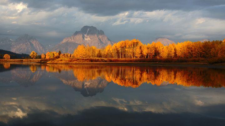 Autumn at Mt. Moran - Grand Tetons - Larry A Stevens Photographics