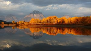 Autumn at Mt. Moran - Grand Tetons - Larry A Stevens Photographics