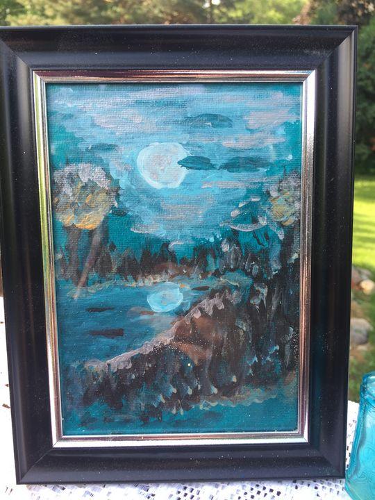 Blue Moon lake - Cat's Colorful Corner