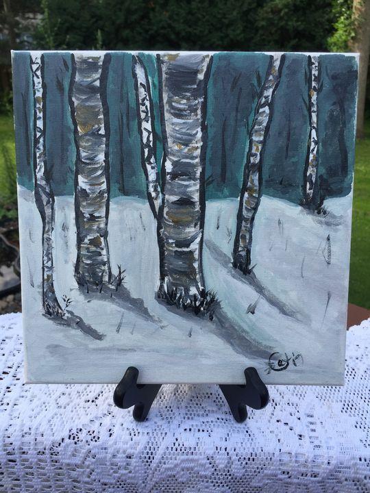 Winter trees m - Cat's Colorful Corner