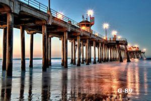 Huntington Pier Terminus sunset