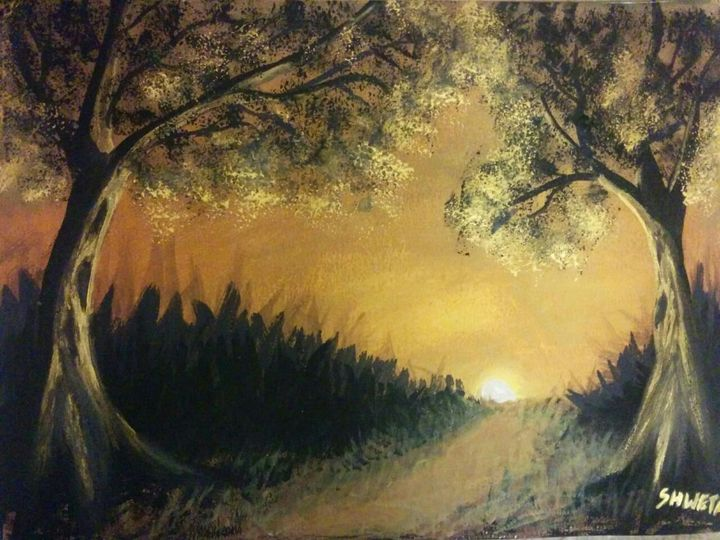 Shadow painting scenary - Shwetha Kulkarni