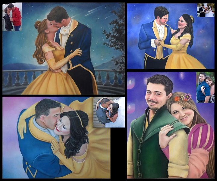 Disney Art Custom Paintings - Dina Creative Art