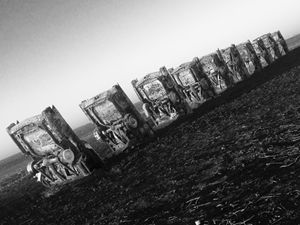Cadillac Ranch at Sunrise