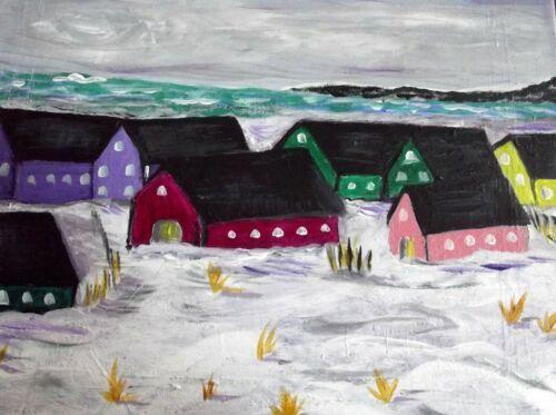 Snowy Beach - Lawson Folk Art