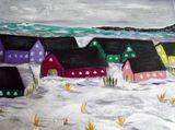 Original Painting Snowy Beach